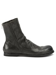 Officine Creative Back Zip Ankle Boots Grey