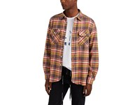 Ovadia And Sons Plaid Flannel Shirt Red