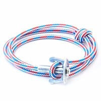 Anchor And Crew Project Rwb Red White And Blue Union Rope Bracelet White Red Blue