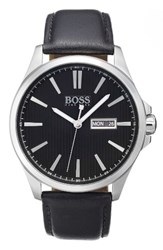 Boss The James Leather Strap Watch 42Mm