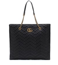 Gucci Gg Marmont Large Leather Tote Black
