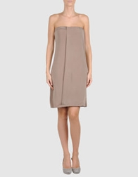 Alpha Short Dresses Khaki
