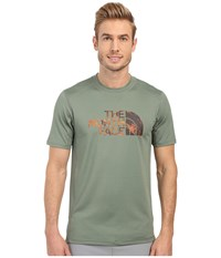 The North Face Short Sleeve Sink Or Swim Rashguard Laurel Wreath Green Spruce Green Pineapple Print Men's Swimwear