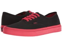 Vans Authentic Pop Outsole Black Racing Red Skate Shoes