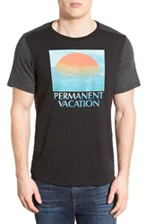 Men's Howe 'Permanent Vacation' Graphic Two Tone Crewneck T Shirt