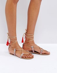 Call It Spring Grallan Flat Tassel Sandals Multi