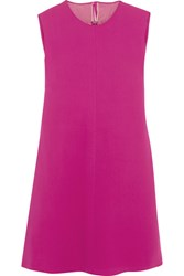 Valentino Draped Silk Cady Mini Dress Fuchsia