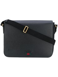 Gucci Messenger Bag Men Leather One Size Black