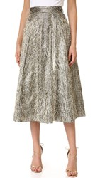 Lela Rose Full Skirt Warm Silver