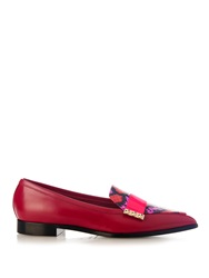 Nicholas Kirkwood Elaphe Snakeskin And Leather Loafers