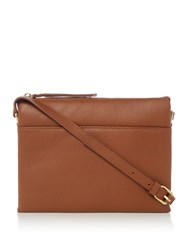 Maison De Nimes Nessa Leather Crossbody Tan