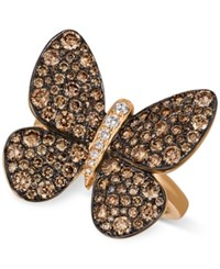 Le Vian Chocolatier Chocolatier Diamond Butterfly Ring 1 7 8 Ct. T.W. In 14K Rose Gold