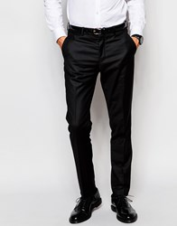 Selected Homme Tuxedo Suit Trousers In Slim Fit Black