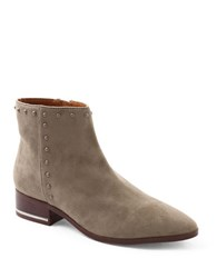 Kensie Francisco Microsuede Studded Ankle Boots Taupe