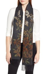 Echo Floral Jacquard Scarf Echo Charcoal