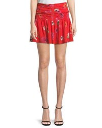 Camilla And Marc Mona Floral Mini Skirt Poppy Print