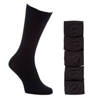 John Lewis Cotton Rich Socks Pack Of 5 Black