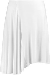 Bailey 44 Asymmetric Jersey Mini Skirt White