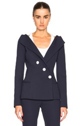 Thierry Mugler Mugler Tailored Twill Jacket In Blue
