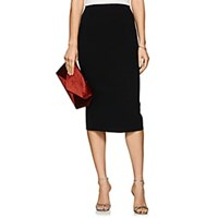 Zac Posen Bonded Crepe Pencil Skirt Black
