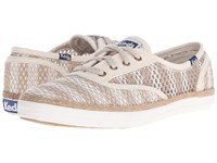 Keds Champion Crochet Stripe Natural Cream Women's Lace Up Casual Shoes Bone