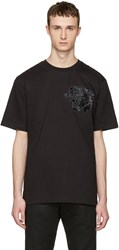 Markus Lupfer Black Sequin Tiger T Shirt