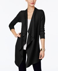 Inc International Concepts Draped Open Front Cardigan Only At Macy's Deep Black
