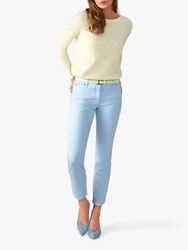 Pure Collection Cropped Denim Jeans Pale Blue