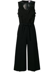 Red Valentino Tulle Detail Jumpsuit Black