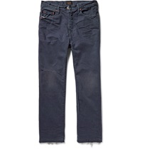 Chimala Straight Leg Sulphur Dyed Washed Selvedge Denim Jeans Blue