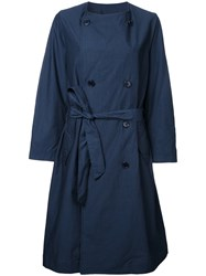 En Route Belted Double Breasted Coat Blue