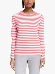 John Lewis Collection Weekend By Breton Stripe Top Peach White