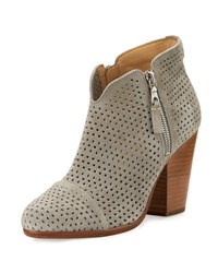 Rag And Bone Margot Perforated Suede Ankle Boot Gray