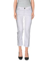 7 For All Mankind Seven7 Trousers 3 4 Length Trousers Women White