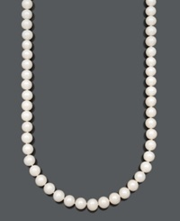 Belle De Mer Cultured Freshwater Pearl Strand Necklace 9 1 2 10 1 2Mm In 14K Gold