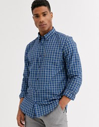 Ben Sherman Slim Fit Gingham Shirt Navy