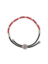 John Hardy Classic Chain Round Beads Bracelet Red