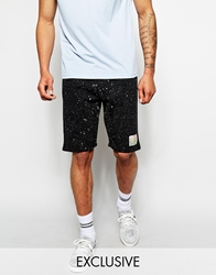 Reclaimed Vintage Jersey Short In Splatter Print Black