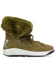 Emporio Armani Ea7 Lace Up Boots Green