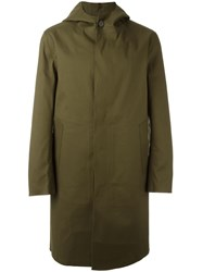 Mackintosh Single Breasted Coat Green