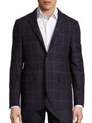Sand Bordeau Window Pane Wool Jacket Burgundy Multi
