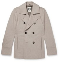 Connolly Slim Fit Wool Peacoat Gray