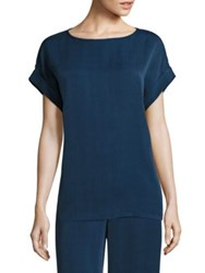 Lafayette 148 New York Lori Boatneck Blouse Majolica Blue