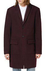 Topman Men's Shawl Collar Wool Blend Topcoat