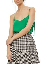 Topshop Women's Rouleau Swing Camisole Bright Green