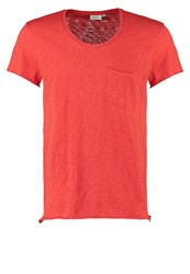 J. Lindeberg J.Lindeberg Ben Basic Tshirt Washed Red Dark Red