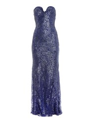 Tfnc Strapless Lace Maxi With Sequin Detail Navy