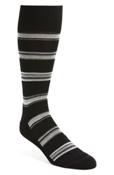 Nordstrom Shop Alternating Rugby Stripe Socks Black Grey