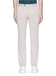 Armani Collezioni Woven Cotton Pants Neutral