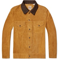Levi's Vintage Clothing 1950S Suede Trucker Jacket Honey